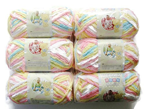 BERNAT Baby Blanket Yarn, 3.5oz, 6-PACK (Pitter Patter) by Bernat