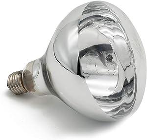 Fengrun Lighting 150 Watt / 250 Watt, Hard Glass(Water Proof), R125 Clear, Infrared Heating Bulb, for Swine & Poultry