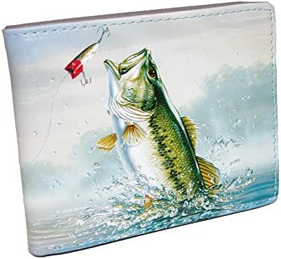 Buxton Mens Wildlife Fish Print Bifold Wallet