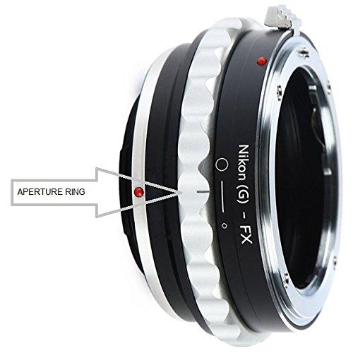 Adapter to Convert Nikon F-Mount D, G-Type Lens to Fujifilm X-Mount for Fuji X-Pro1, X-Pro2, X-E1, X-E2, X-E2S, X-M1, X-A1, X-A2, X-A3, X-A10, X-T1, X-T2, X-T10, X-T20 Mirrorless Digital Camera (Nikon Adapter X Fuji)