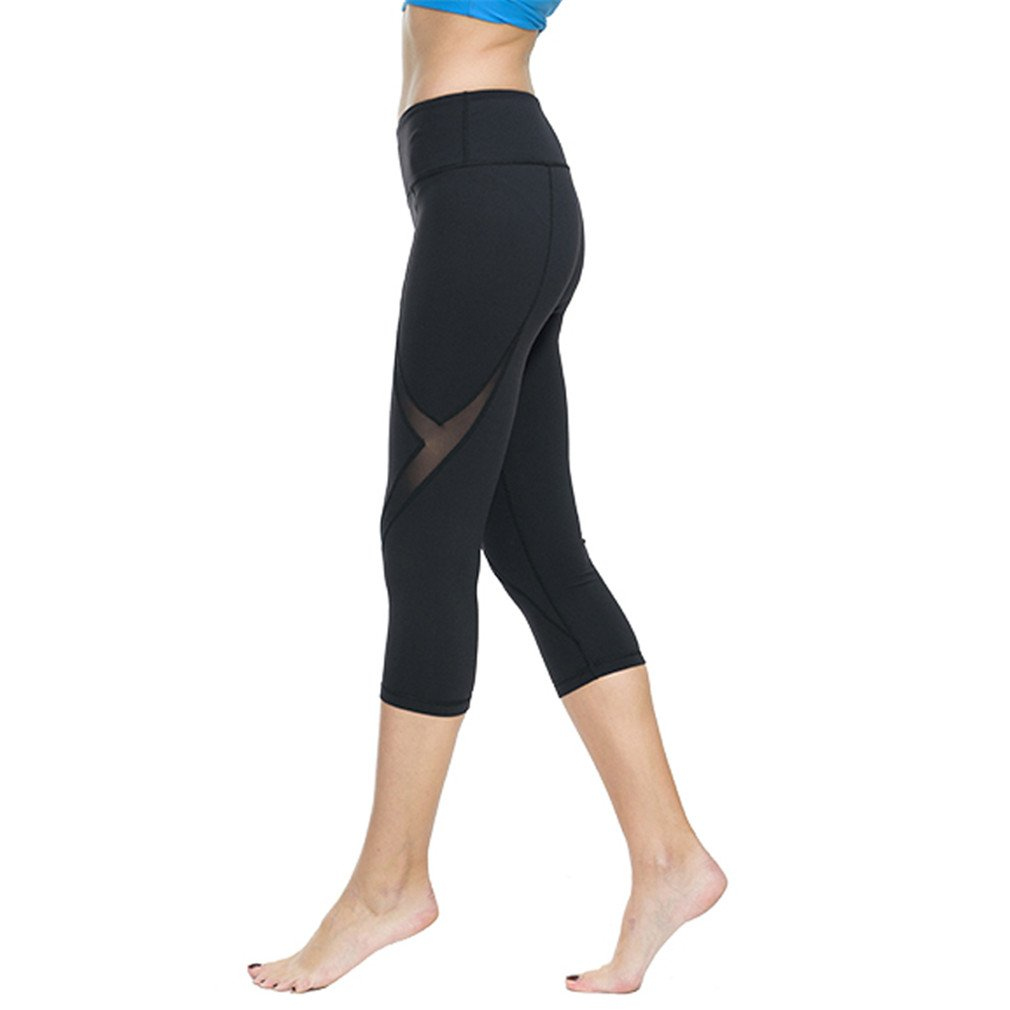 66b0037a25ca87 Amazon.com : FITN Sports Tights High Waist Stretch Workout Leggings  Sportswear Fitness Trousers For Women : Sports & Outdoors