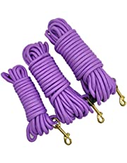 MayPaw 15FT/30FT/50FT Long Rope Training Dog Leash- Heavy Duty Nylon Recall Pet Tracking Line- for Small Medium Outside Training Play Camping or Backyard