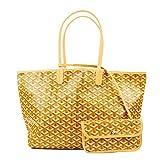 Stylesty Fashion Shopping PU Tote Bag, Designer Shoulder Handbags with Key Ring (Medium, Yellow)