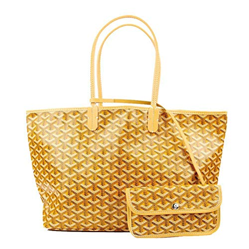 Stylesty Fashion Shopping PU Tote Bag, Designer Shoulder Handbags with Key Ring (Large, Yellow1) -