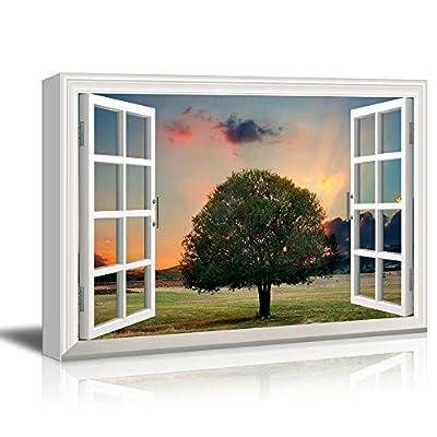 Creative Window View Tree in Sunset 24