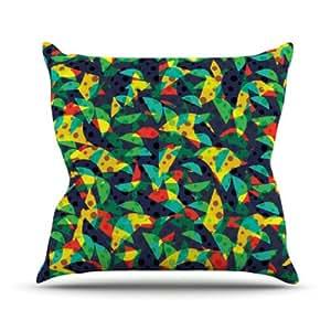 Kess Akwaflorell internos frutas y diversión interior/al aire libre manta almohada