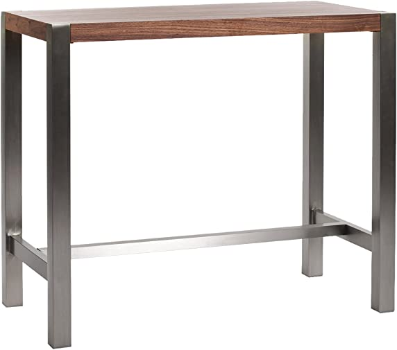 Moe s Home Collection 47 by 23 by 41-Inch Riva Bar Table, Walnut Veneer