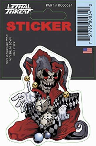 Lethal Threat Skull Jester Decal RC00034 (Jester Skeleton)
