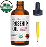 Image of Rosehip Oil by Kate Blanc. USDA Certified Organic, 100% Pure, Cold Pressed, Unrefined. Reduce Acne Scars. Essential Oil for Face, Nails, Hair, and Skin. Natural Moisturizer. 1-Year Guarantee (1 oz)