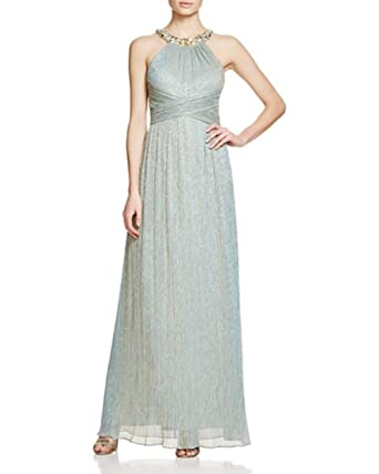 JS Boutique Damen Kleid - blau -: Amazon.de: Bekleidung