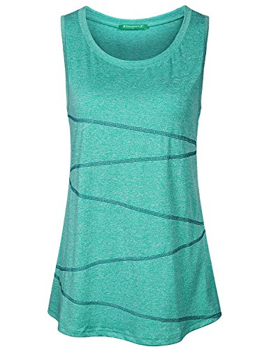 - Kimmery Sleeveless Tops for Women, Ladies Compression Tanks Boat Neck Solid Color Dry Fit Shirts Trendy Sturdy Stunning Fabulous High Bounce Chic Amazing Slimming Activewear Clothes Green Medium