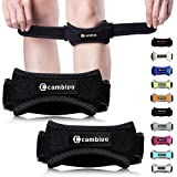 Cambivo 2 Pack Knee Brace Strap, Knee Pain Relief and Patella Knee Band, Knee Support for Hiking, Soccer, Basketball, Running, Tennis, Volleyball, Squats and Tendonitis