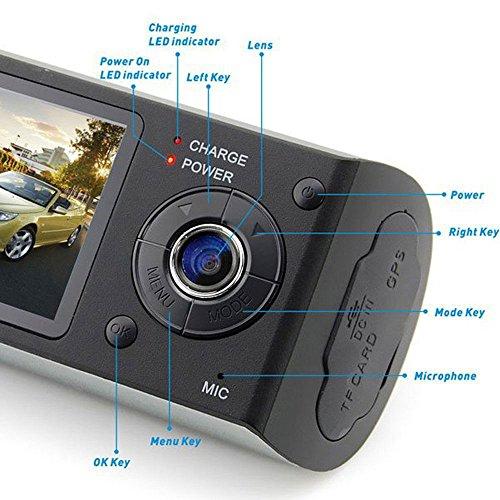 Indigi? HD Dual Driving Dash-Cam Car DVR w/ GPS