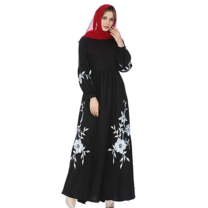 Geetobby Kaftan for Women Long Sleeve Maxi Dress Formal Gown Evening Dress