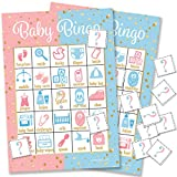 DISTINCTIVS Baby Gender Reveal Party Bingo Game - 24 Guests