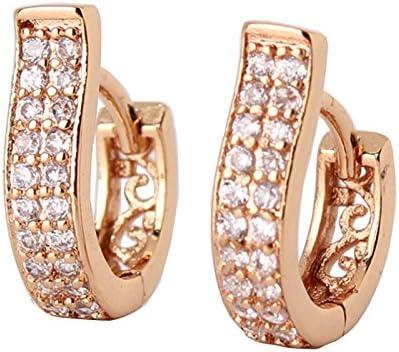 18K Gold Plated Polished Rings Drop Dangle Hoop Stud Earrings Free postage to AU