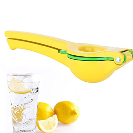 Dupeakya Exprimidor Manual de limón Aluminio Exprimidor de cítricos con 2 Cuencos incorporados en un exprimidor