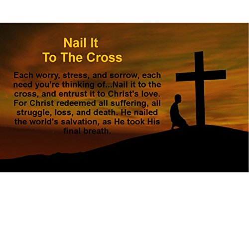 (Nail It to The Cross Rectangle Christian Magnets (Pack of 10))