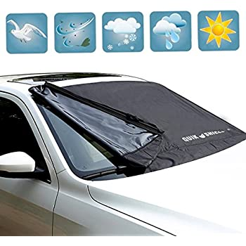 snowoff extra large windshield snow ice cover fit any car suv truck van. Black Bedroom Furniture Sets. Home Design Ideas