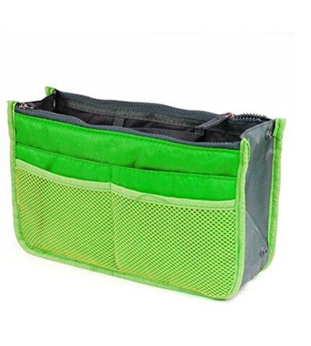 della inserisce borsa tasche il Lyuboov dell'organizzatore sacchetto Green cosmetico black di 12 corsa qw0Bq1ZY
