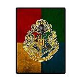 Sysuser Harry Potter Hogwarts School Logo Custom Blanket 58x80 Inch Creative Cotton Blanket Indoor / Outdoor Blanket by Sysuser Custom Blanket