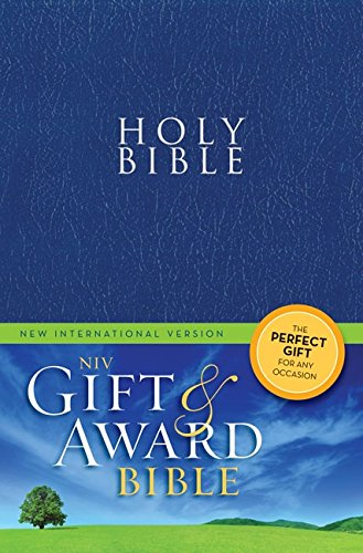 NIV, Gift and Award Bible, Leather-Look, Blue, Red Letter Edition