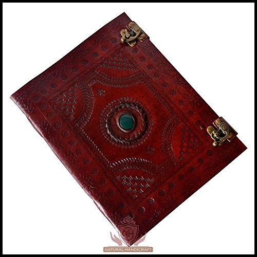 - Handmade Leather Journal Notebook Single Medieval Stone (Color May Vary) Embossed Diary Appointment Organizer Writing Handbook Daily Planner Diary College Sketchbook 7 x 10 inches for Men and Women