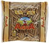 Anna Whole Wheat Penne Rigate, 1 Pound Bags (Pack of 12)