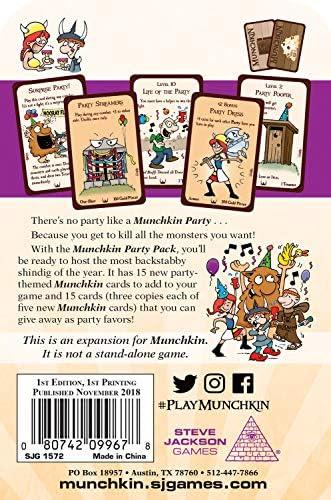 Steve Jackson Games SJG01572 Munchkin Party Pack - Juego de Mesa: Amazon.es: Juguetes y juegos