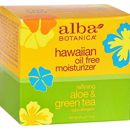 Alba Botanica Hawaiian Aloe and Green Tea Moisturizer Oil-Free - 3 oz (Pack of 2) -