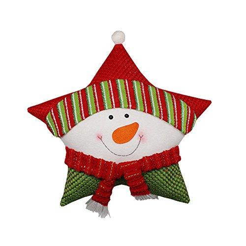 lulalula Navidad, Navidad cojín Papá Noel de Estrellas Manta ...