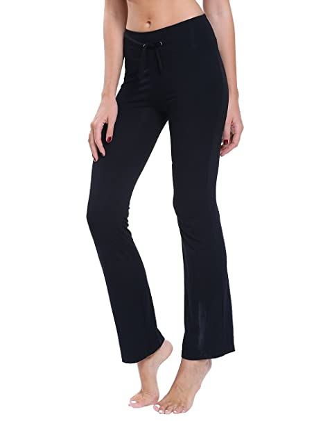 19e132d6d8838 FITTOO Women Casual Ankle Length Yoga Pants Ladies Stretch Softy Trousers  With Drawstring Pilates Workout Gym Running leggings: Amazon.co.uk: Sports  & ...