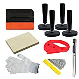 CARLAS Car Wrap Application Kit include 4 Inch Film Squeegees, Wool squeegee, Vinyl Cutters, Tint...