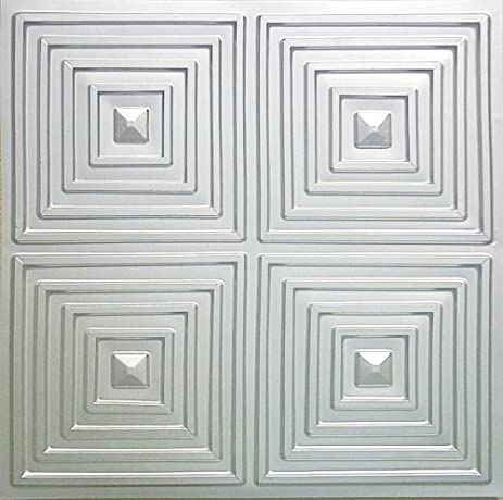 cheap discounted modern plastic ceiling tile nickel silver finish 125 pvc fire