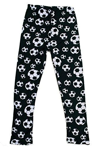 iZZYZX Kid's B&W Soccer Ball Sports Pattern Printed Leggings - S/M (Print Ball Soccer)
