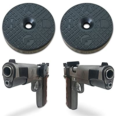 2-Pack | TACTICON HALO Gun Magnet 25 lb Rated | Adhesive Magnets | Car Holster | Bedside Holster | Steering Wheel Holster | Under The Desk Holster | Gun Holsters For Cars | Vehicle Gun Mount Pistol s