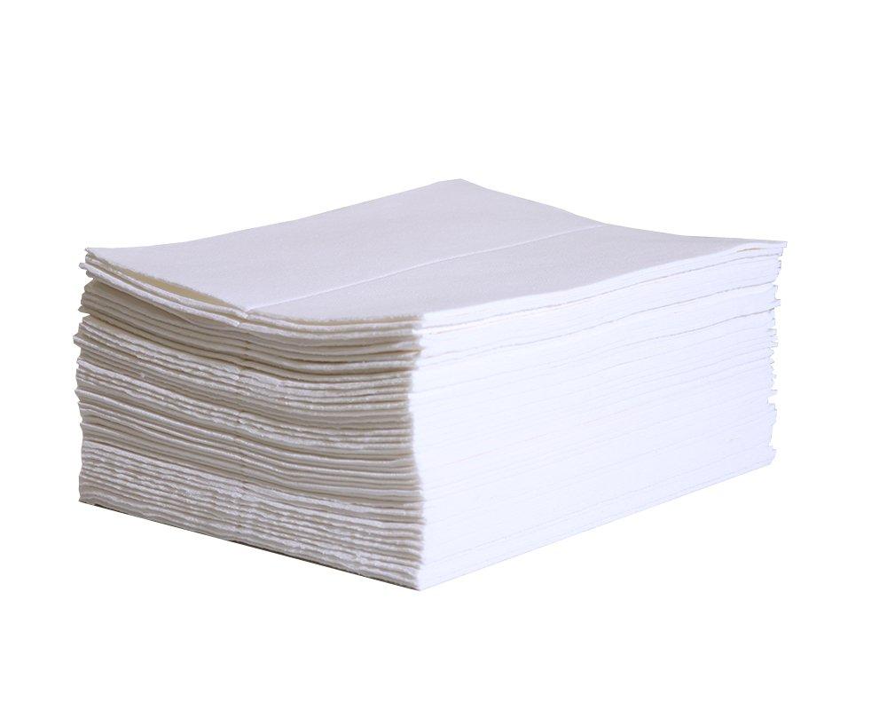 New Pig PM50078 Absorbent Mat for Carpet Spills - 50 Count Super Liquid Absorbent Pads