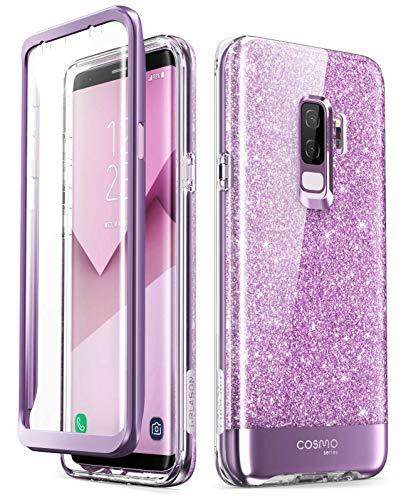 - i-Blason Cosmo Full-Body Glitter Clear Bumper Case for Galaxy S9 Plus 2018 Release, Purple
