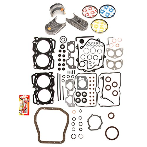 Full Kit Sohc Gasket (Domestic Gaskets Engine Rering Kit FSBRR9009MLSEVE\0\0\0 99-03 Subaru 2.5 SOHC EJ25 Full Gasket Set, Standard Size Main Rod Bearings, Standard Size Piston Rings)