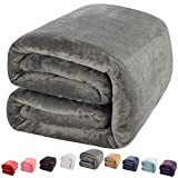 Where to Buy Oversized King Comforters Shilucheng Luxury Fleece Blanket Super Soft and Warm Fuzzy Plush Lightweight King Couch Bed Blankets - Grey