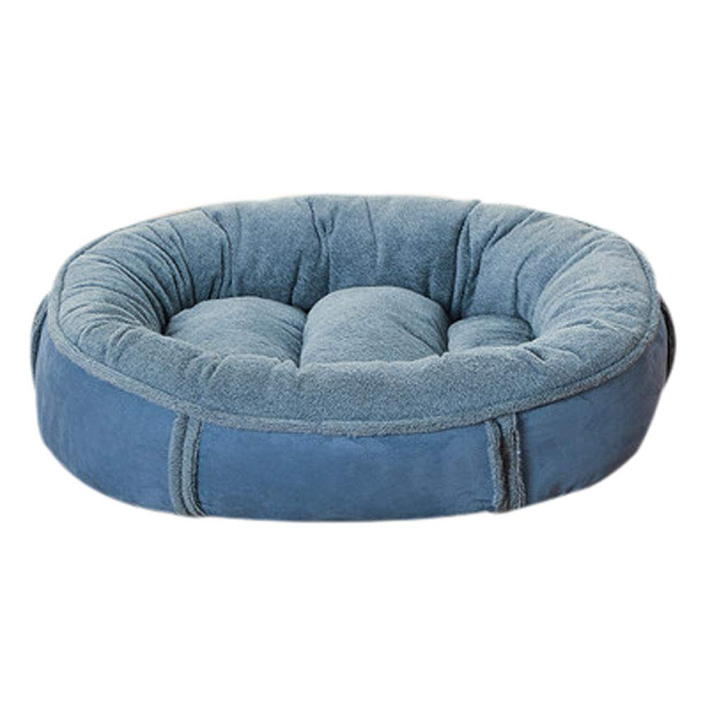 bluee Xl bluee Xl HJYCWW Teddy Kennel Removable And Washable Small Dog Mat golden Hair Large Medium-sized Dog Cat Nest Four Seasons Pet Nest