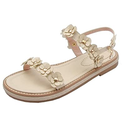 COOLCEPT Damen Open Toe Sandalen Flach