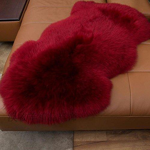 lililili Faux fur sheepskin rug,Kids carpet home décor accent for a kid's room,Childrens bedroom, Nursery, Living room or bath.Bay window blanket,Sofa cover-Wine 70x100cm(28x39inch) by lililili