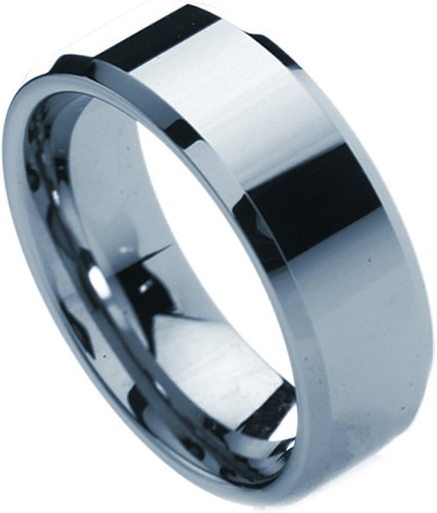 Tungsten Men/'s Wedding Band Ring Black Size 12 Comfort Fit Modena