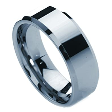 b036570f5d1a TUNGSTEN RINGS FOR MEN SIZE 13 (Tungsten Carbide Ring 8mm) Polished Tungsten  wedding band
