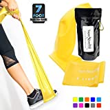 SUPER EXERCISE BAND X Light YELLOW Resistance Band. Your Home Gym Fitness Equipment for Strength Training, Physical Therapy, Rehab or Chair Workouts | LATEX FREE For ALLERGIC SAFETY | 7 ft