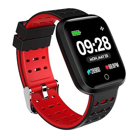 Azorex SmartWatch Multifunción Reloj Inteligente Cuadrado Deportivo Impermeable IP67, Pulsera Actividad Control Remoto para iPhone