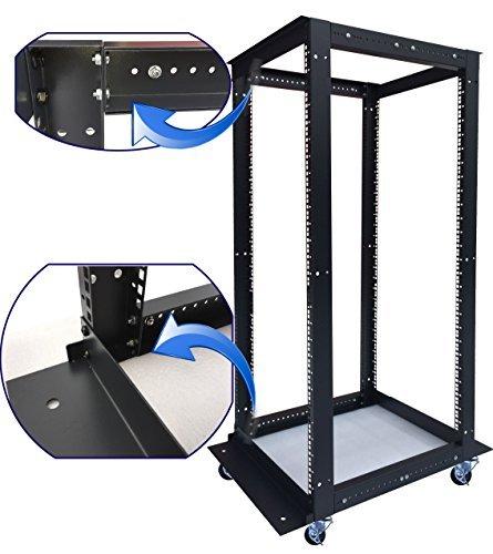 18U 4 Post Open Frame 19'' Network Server Rack Cabinet Adjustable Depth 24''-37'' by Sysracks (Image #2)