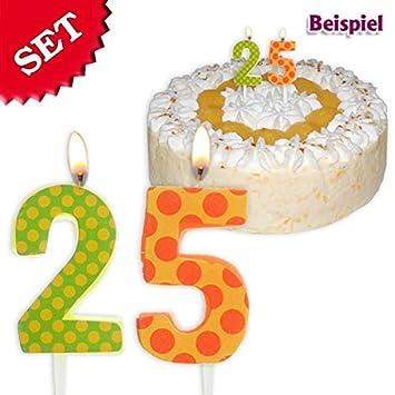 Velas Cumpleaños número 25, 2,5 cm: Amazon.es: Juguetes y juegos