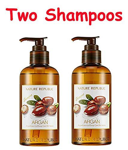- (Pack of 2) Nature Republic Argan Essential Deep Care Shampoo + Free Gift